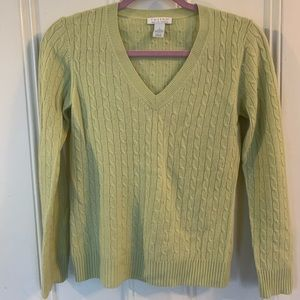 100% Cashmere LS Cable knit Sweater
